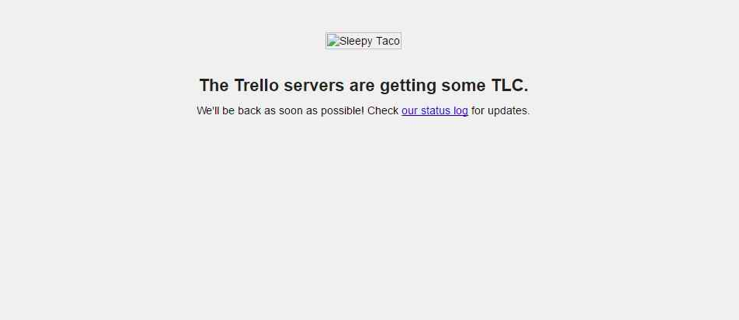 Trello error message