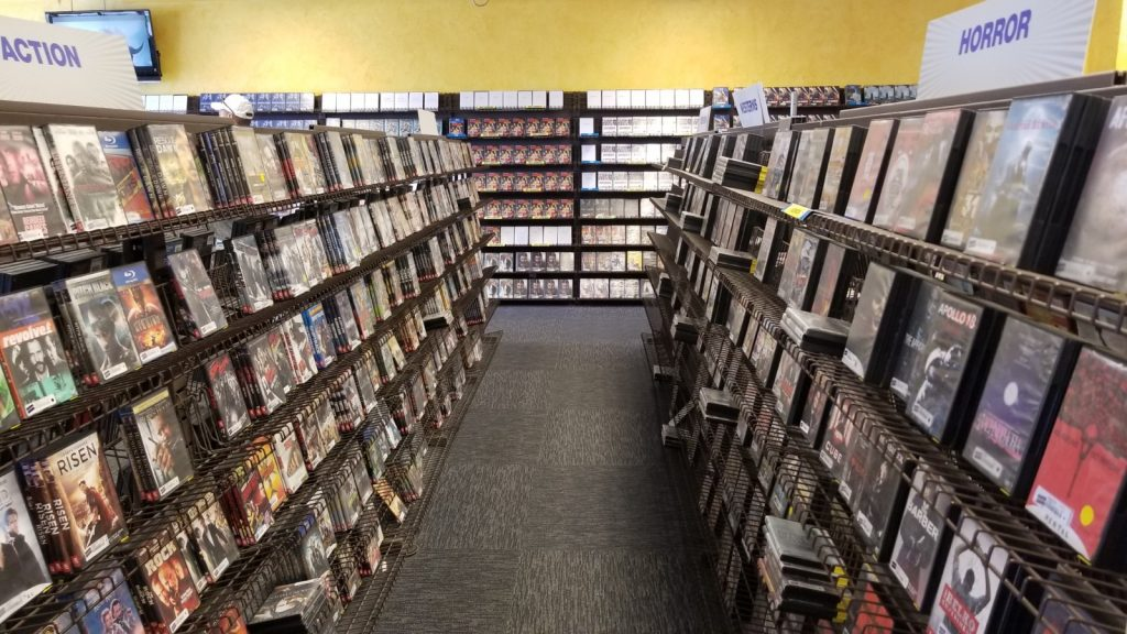 Videos to rent at Blockbuster