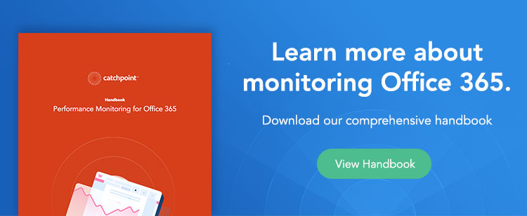 monitor office 365 with catchpoint